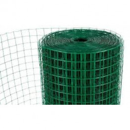 "PVC Coated Wire Mesh 13x13mm Holes 20G (1/2""x 1/2"" inch) 36""High (3FT) 30 Meters"