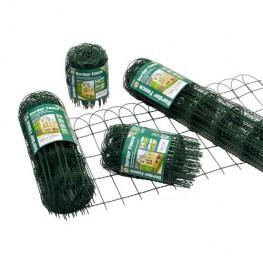 garden border 250mm High 10mt green PVC coated